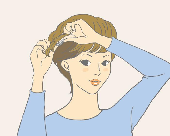 半頂式假髮配戴教學-步驟三