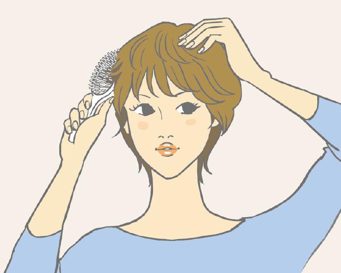 半頂式假髮配戴教學-步驟四