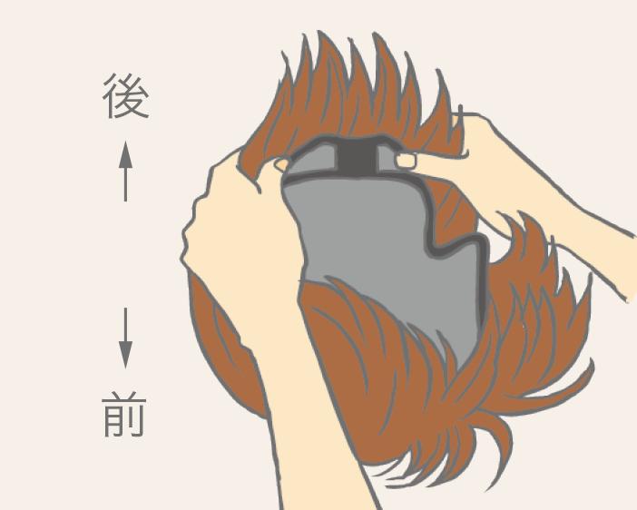 整頂式假髮配戴教學-步驟一